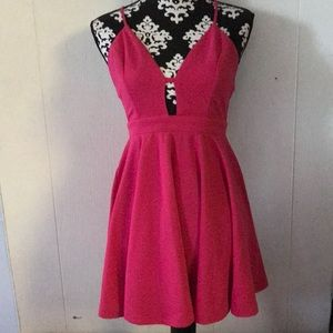 hot pink formal and casual dress